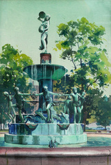 Depew Fountain, Indianapolis by Floyd D. Hopper