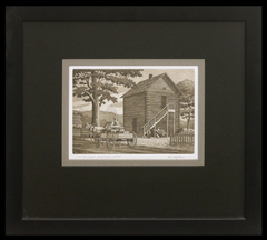 Old Log Jail, Brown County, Indiana by Kenneth Reeve