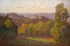 View from Belmont by Theodore Clement (T.C.) Steele
