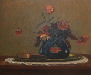 Still Life with Book and Flowers