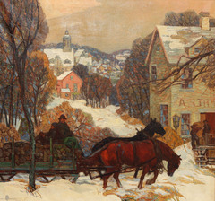 Sleigh Ride by Carl Rudolph Krafft