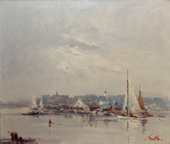 New England Harbor by Arnold Turtle