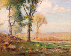 Early Autumn Landscape by Alexis Jean Fournier