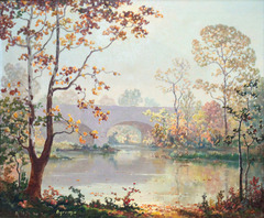 White River Bridge by Ruthven (Holmes) Byrum