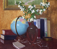 Still Life with Books and Globe