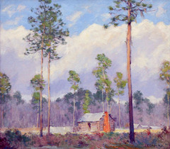 Cabin in a Clearing by Adolph Robert Shulz