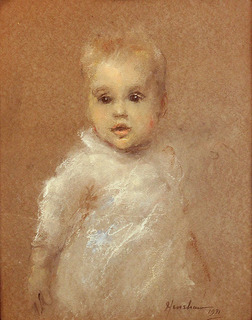 Portrait of Jessie Brayton as a baby