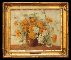 Marigolds and Queen Anne's Lace by Leota Williams Loop