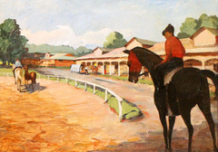 Track and Stables by Robert Selby