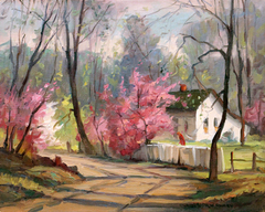Nashville Cottage with Figure by Fred Rigley