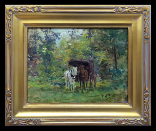 Lanscape Study with Horses and Carriage