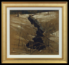 Horseneck Brook in Winter by John Henry Twachtman